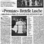 Corriere delle Alpi, 9 novembre 2004